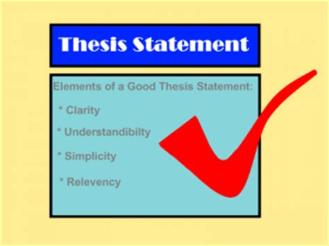 What are the elements of a working thesis statement